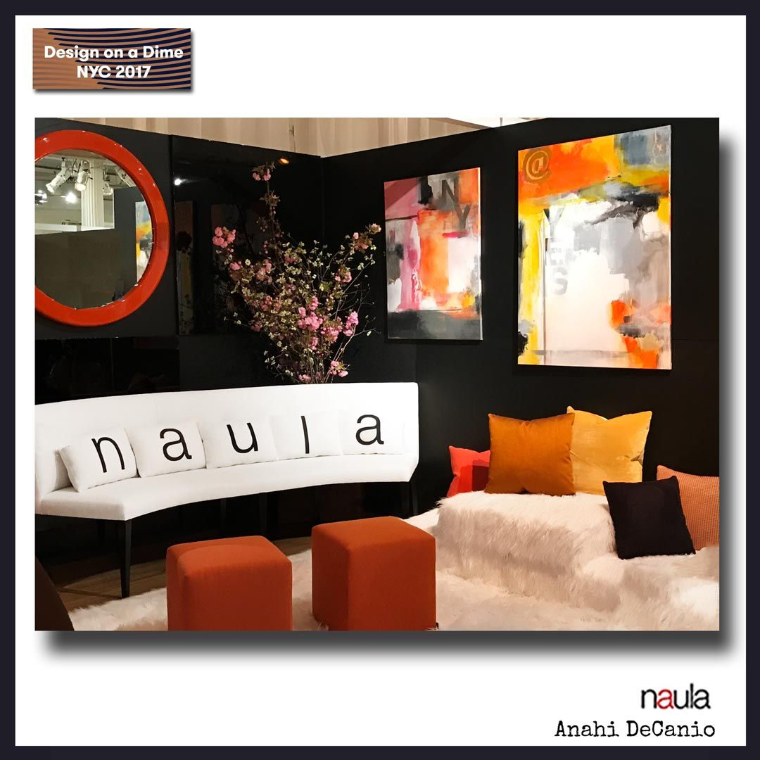 Anahi Decanio Donated Artwork To Naula Stunning Booth At Design On A Dime Nyc 2017 Event