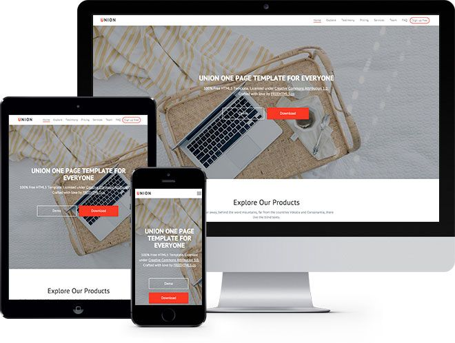 Union Free Html5 Bootstrap Template Bootstrap Template Free Website Templates Html5 Templates