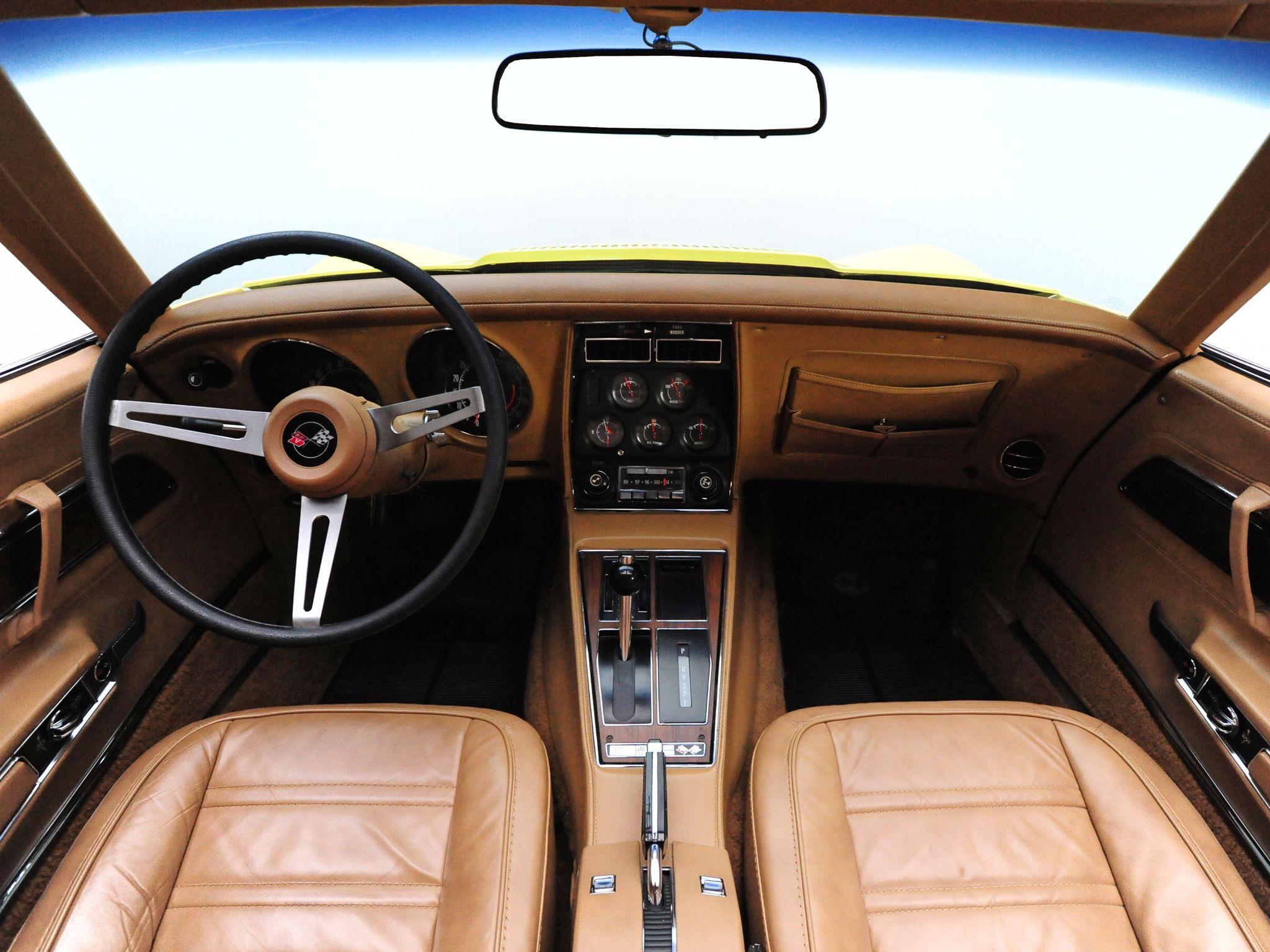 1974 chevrolet corvette stingray l82 interior and