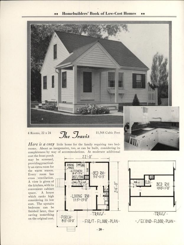 Home Builders Book Of Low-cost Homes By Brown-Blodgett Co