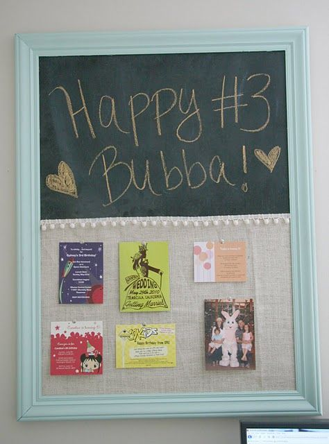 Chalkboard And Corkboard Combo Tutorial I Would Probably Tweak It A Little But Want To Try Make This