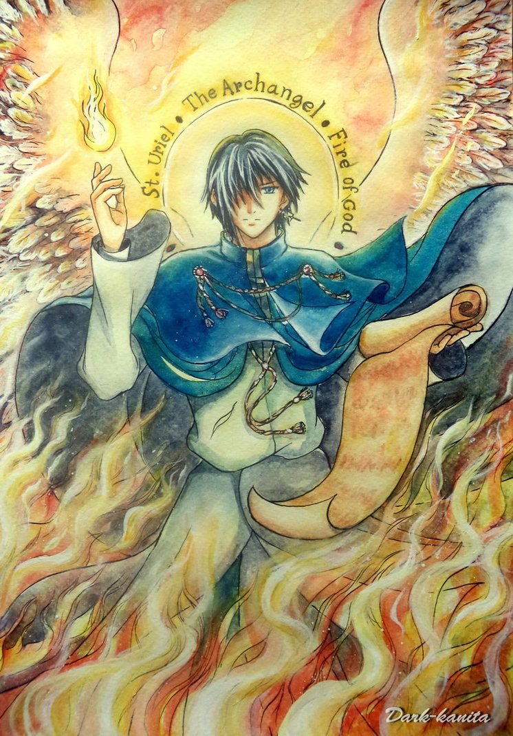 Archangels names and meanings catholic - Hello This Is Uriel The Archangel In My Art Style Manga Christian Art Uriel S Name In Hebrew Uriel The Archangel Fire Of God