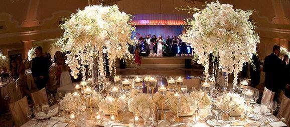 mesa de dulces para boda elegante - Buscar con Google centros de
