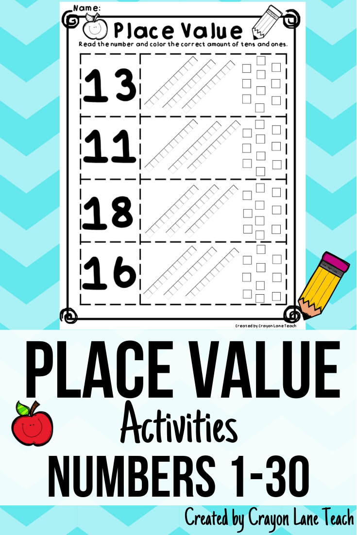 Place Value Activities No Prep Numbers 1 30 Place Value Worksheets Place Values Place Value Activities [ 1102 x 735 Pixel ]