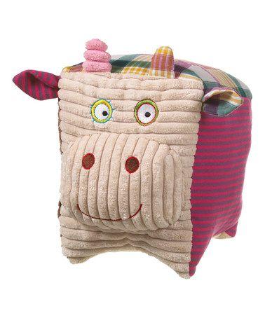 Look what I found on #zulily! Pink Cow Cubimals Pillow #zulilyfinds