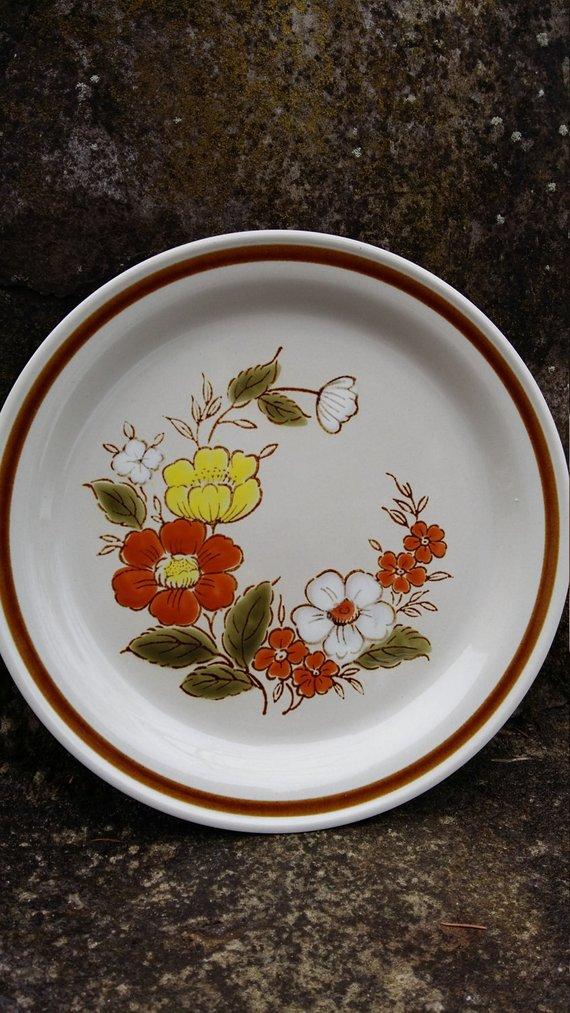Vintage Japan Stoneware Plate Large Ceramic Platter