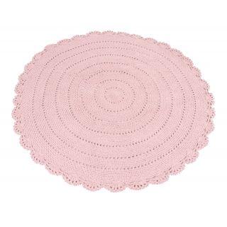 runder strick teppich 39 roundy 39 rosa 110cm baby pinterest kinderzimmer teppich. Black Bedroom Furniture Sets. Home Design Ideas
