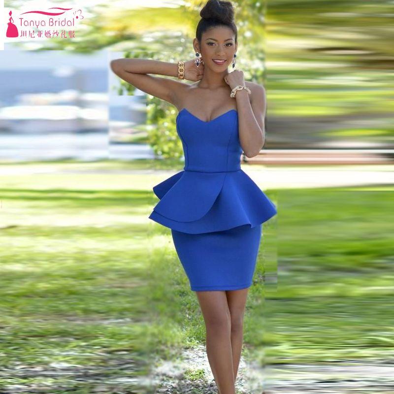 Meerjungfrau Blau Abendkleid Kurze Kleider tarik ediz kleider ...