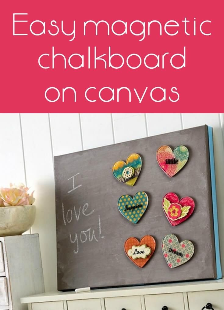 Easy Magnetic Chalkboard Made With A Canvas With Images Diy