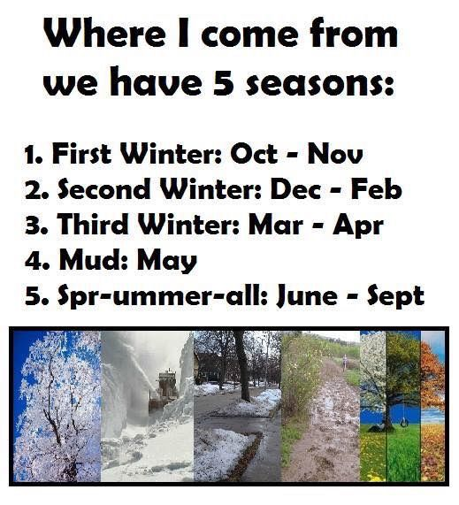 Image result for seasons in ontario meme