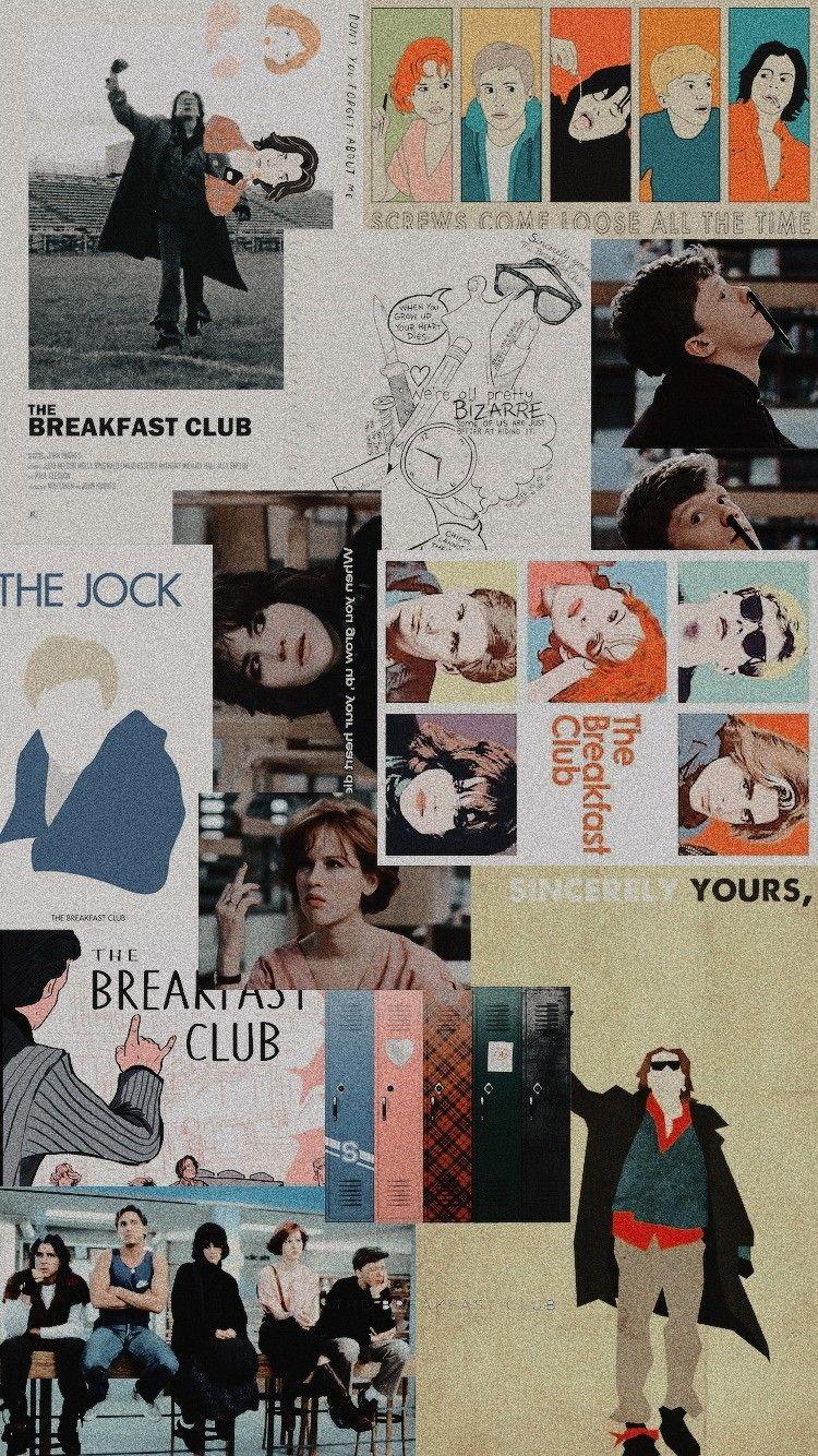 The Breakfast Club Wallpaper Collage Tumblr The Breakfast Club Movie Collage Breakfast Club Poster