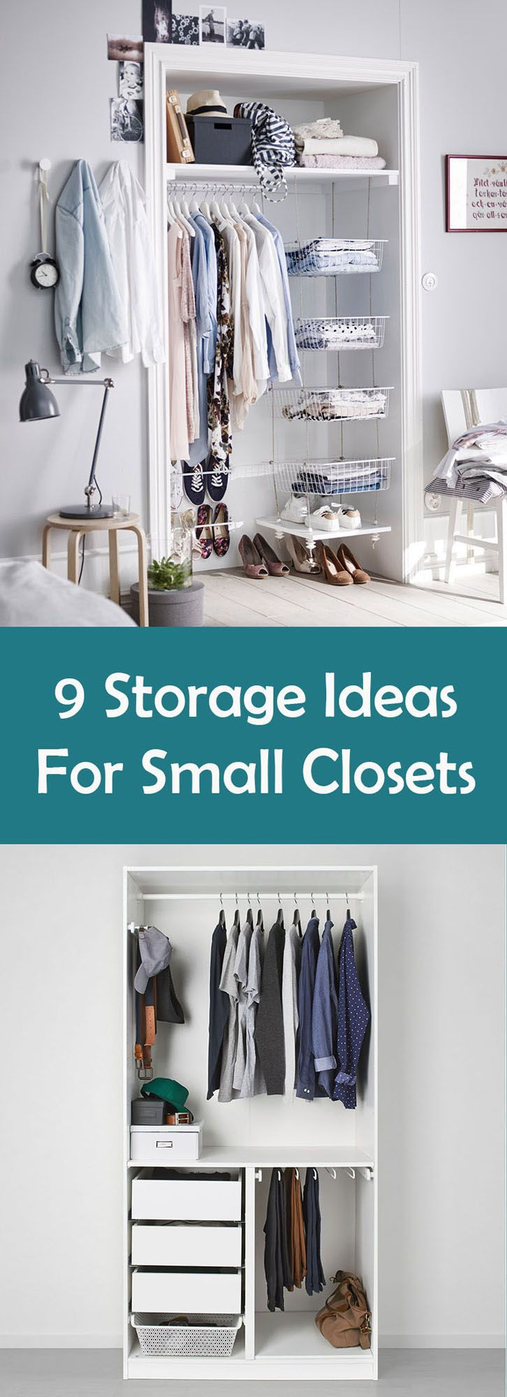 9 storage solutions for small closets cape cod in 2019 - Clothes storage ideas for small spaces ...