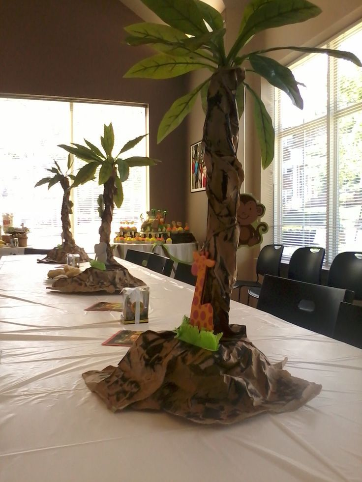 Jungle centerpieces google search bananas pinterest