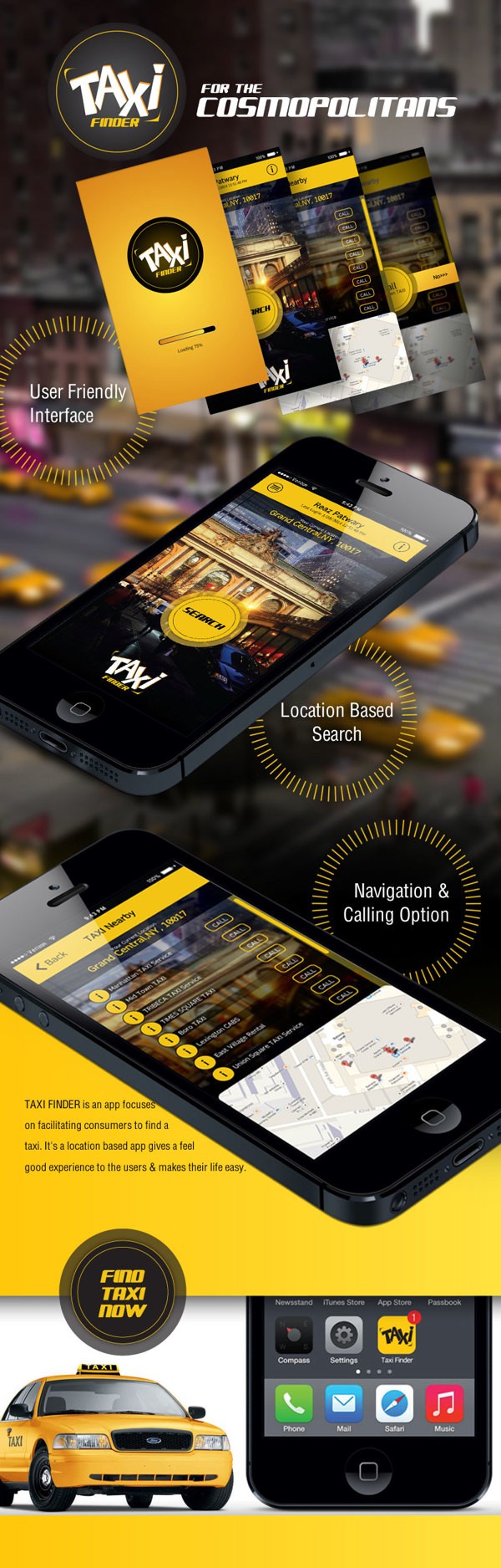 TAXI FINDER on Behance