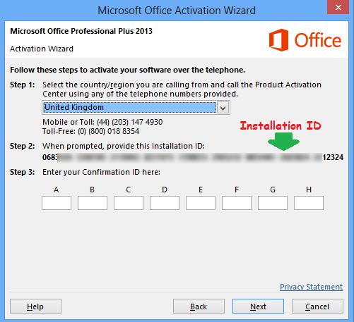 activation key for ms office 2013 professional