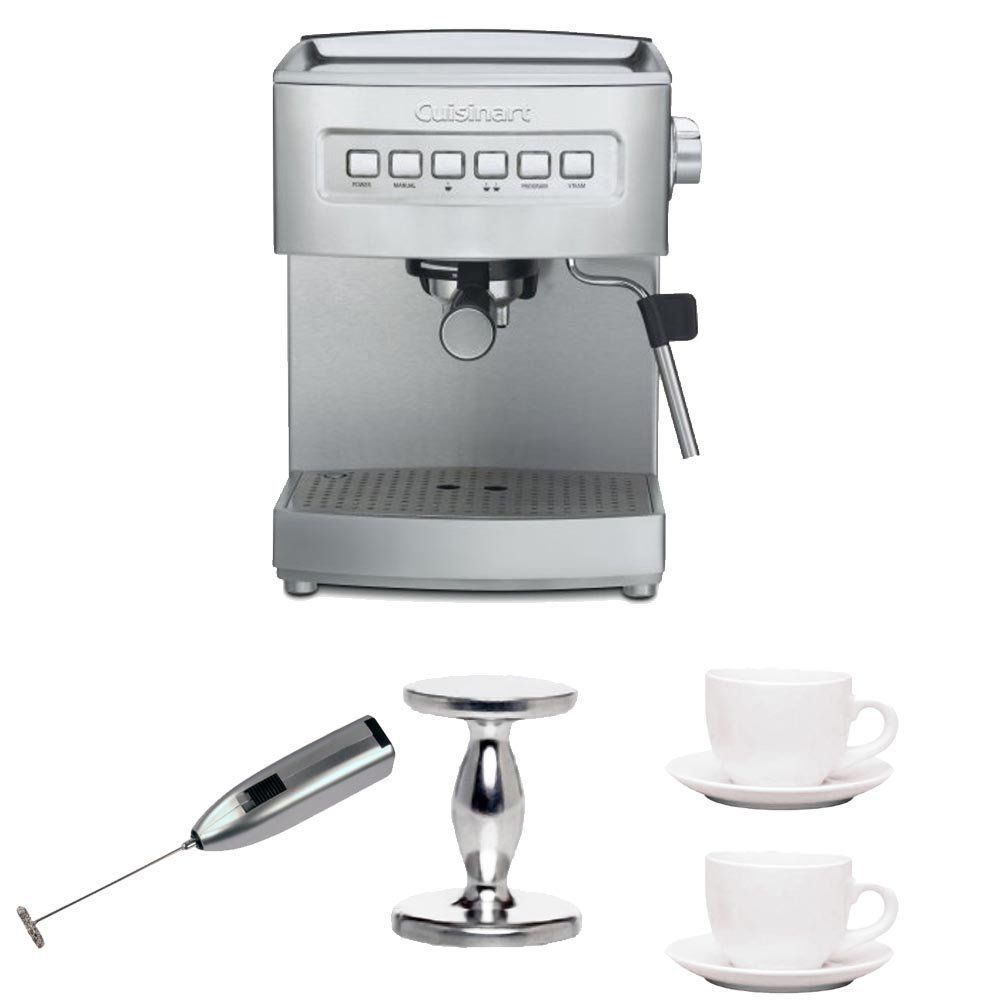 Cuisinart Em 200fr Stainless Steel Programmable 15 Bar Espresso Maker Handheld Milk Frother