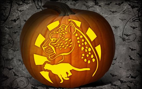 Pumpkin Carving Fun Animal Designs And Templates Cheetah