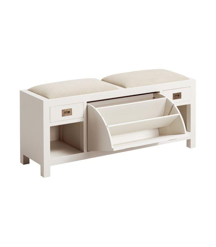 Banco de madera con almacenaje y asiento.   Utilidades   Pinterest ...
