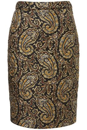 Silk Paisley Skirt- Top Shop