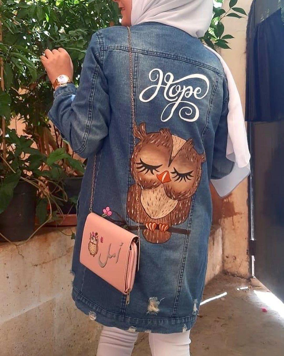 من اهضم الsets اللي عملتن لبنت اسمها أمل بتعشق البومة بومة أمل مشغل وداد Widads Workshop Owl Set Painted Clothes Hand Painted Workshop