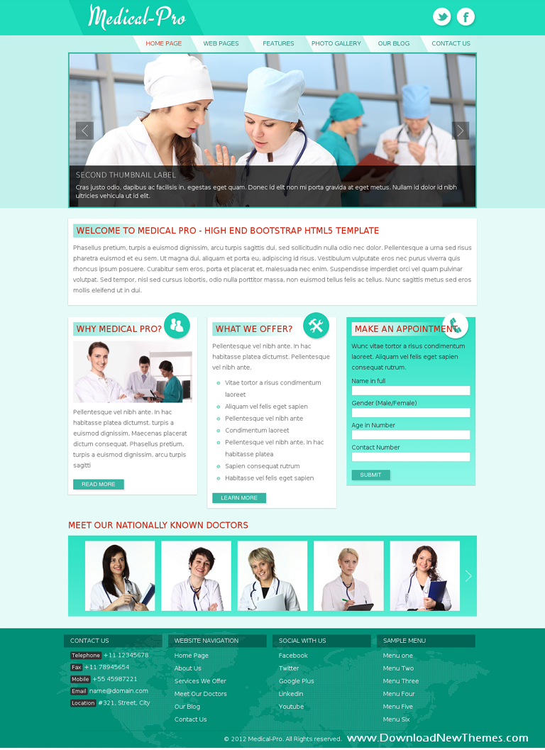 medical pro responsive bootstrap template download themes