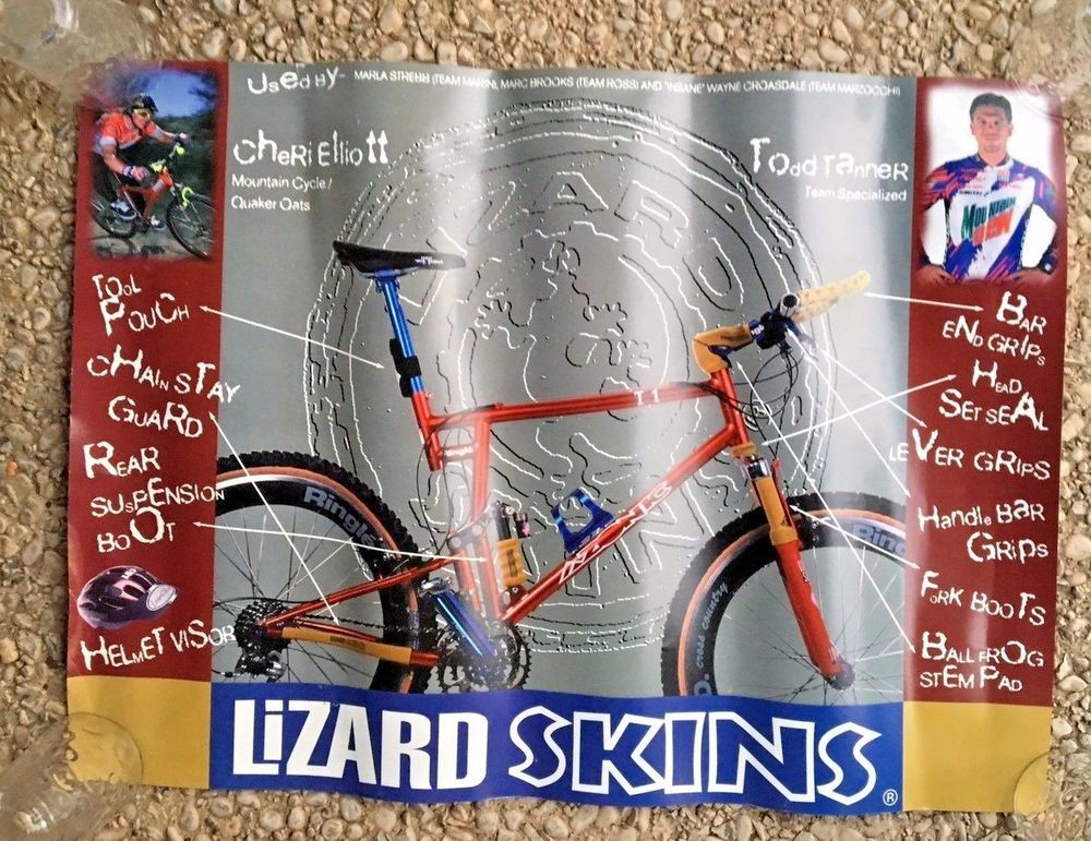 BIKE BMX Collectible Poster ADVERTISEMENT Lizard Skins