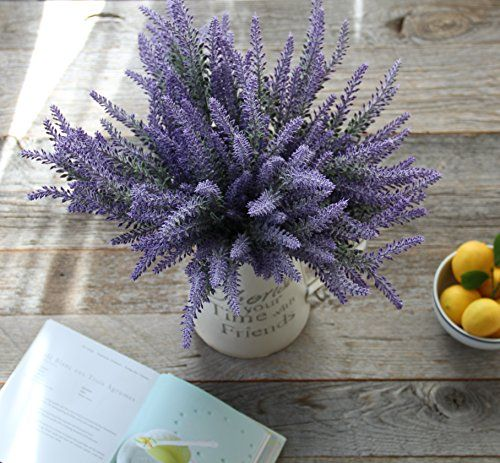 Artificial Flower Purple Lavender Bouquet For Home Decor