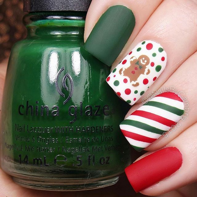 Merry Christmas Nail ⚫ look | Gorgeous | Pinterest | Diseños de ...