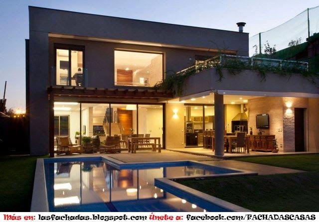 Fachada de casa contemporanea en brasil proyectos que for Decoracion de casas brasilenas