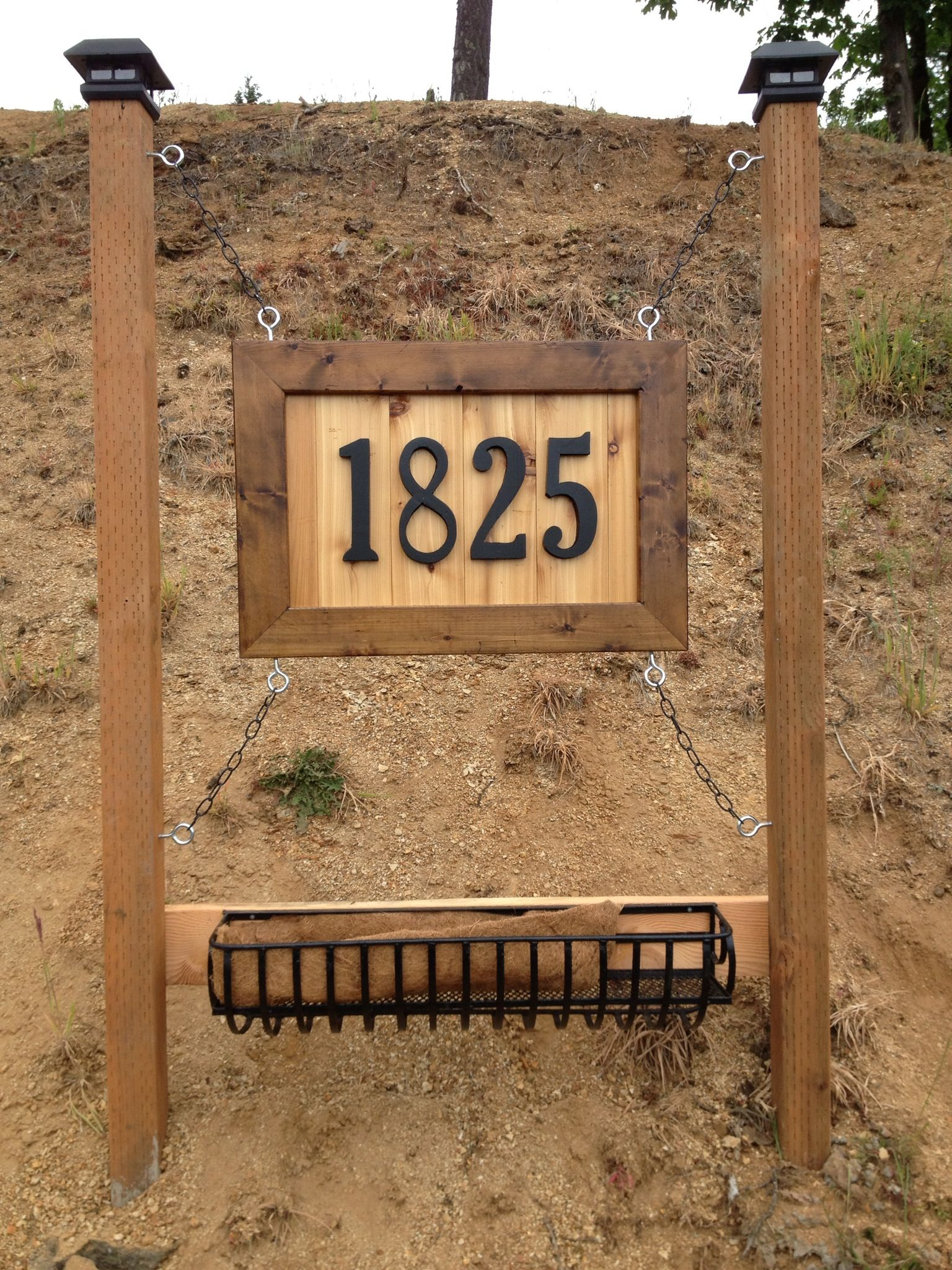 Wooden House Number Sign House Numbers Diy Driveway Sign Diy Exterior