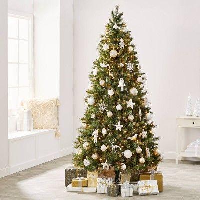 85pc Winter Whites Christmas Ornament Kit Wondershop In 2020 White Christmas Ornaments Elegant Christmas Trees Christmas Ornament Sets
