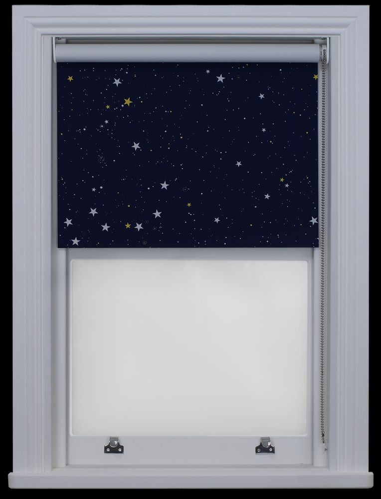 Details About Made To Measure Stars Navy Night Sky Blackout Thermal Roller Blind Blackout Blinds Roller Blinds Blinds
