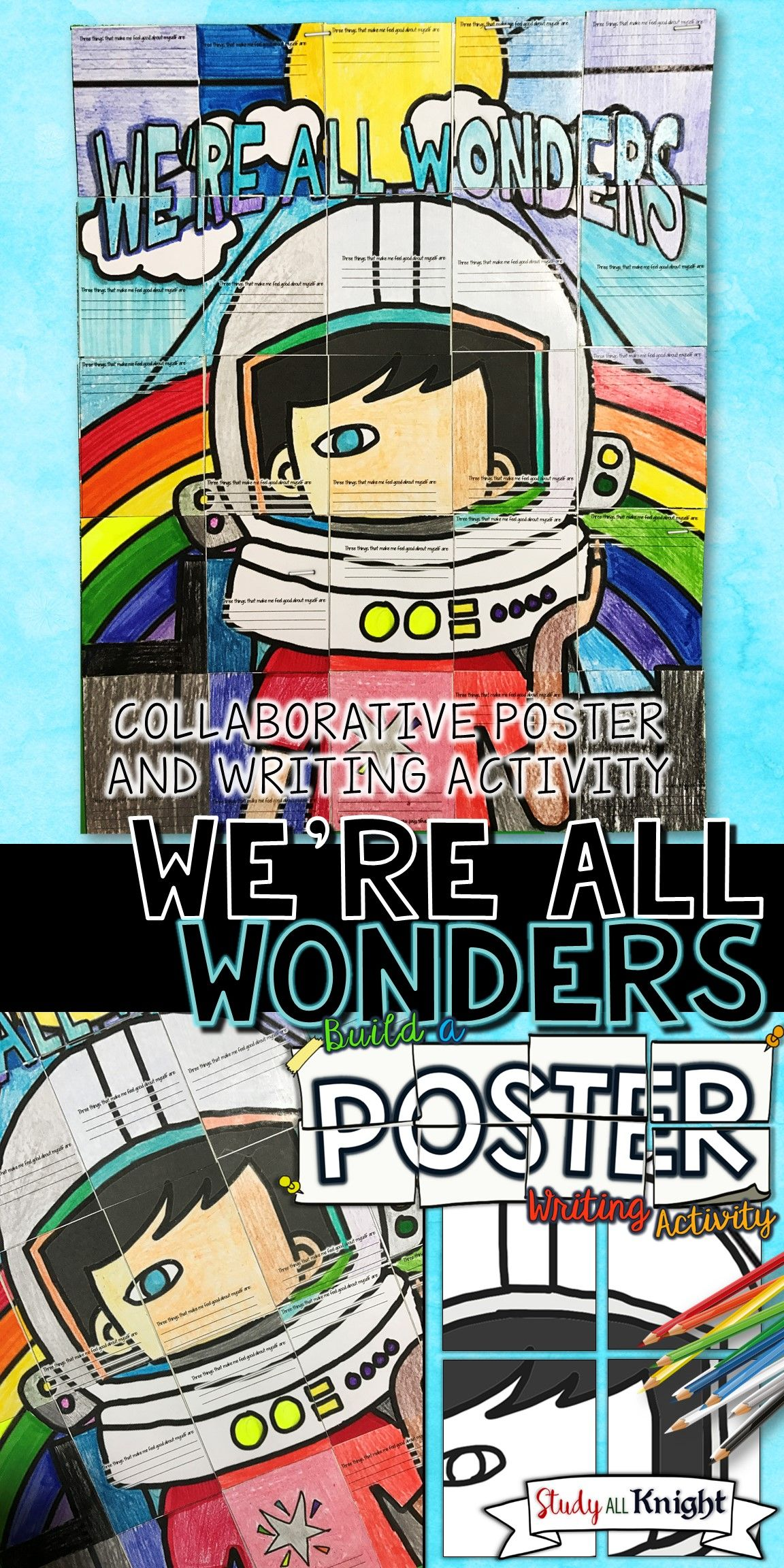 We Re All Wonders By R J Palacio Wonder Writing Activity