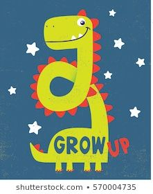cute dinosaur illustration as vector for baby tee print #dinosaurillustration