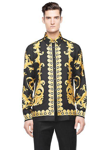 mens versace print shirt