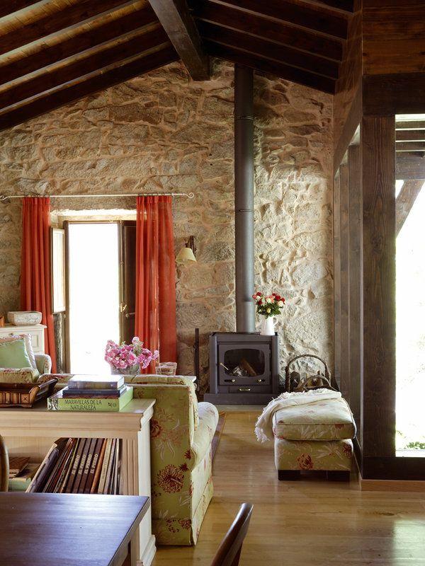 Claves para decorar casas de campo Salons House and Stone houses