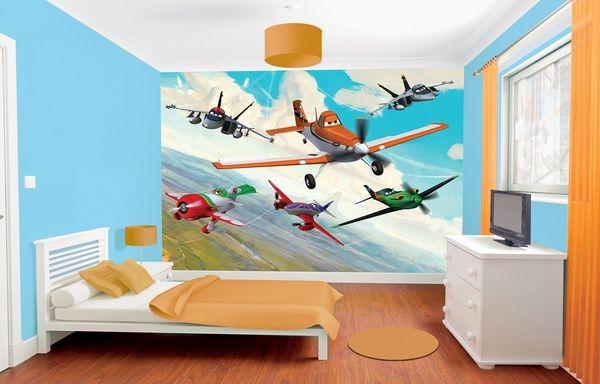 Behang Kinderkamer Vliegtuigen : Foto behang frank ook van cars pepa feuerman sam euro