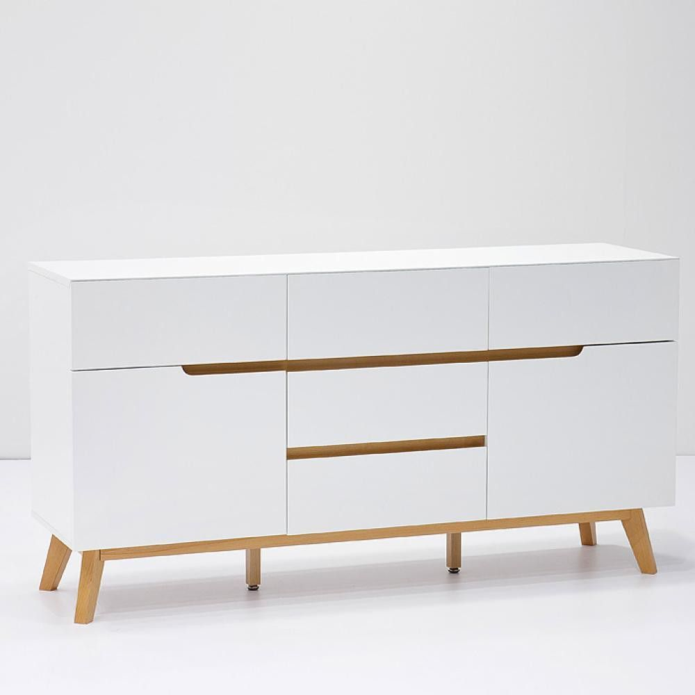 sideboard cervo matt weiss eiche at43432 m kommode pinterest ankleide kommode. Black Bedroom Furniture Sets. Home Design Ideas
