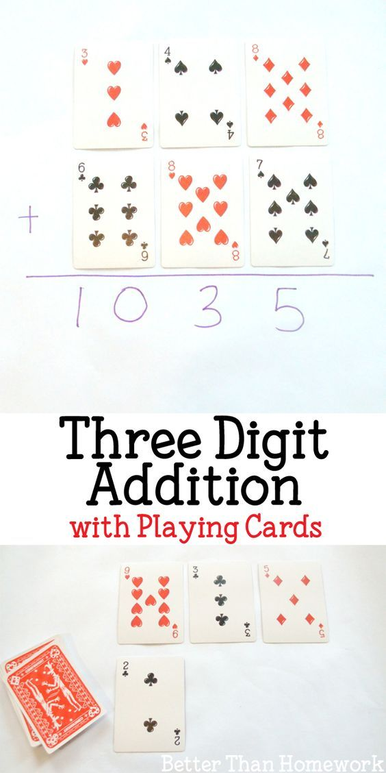 Three Digit Addition With Playing Cards With Images Math Games
