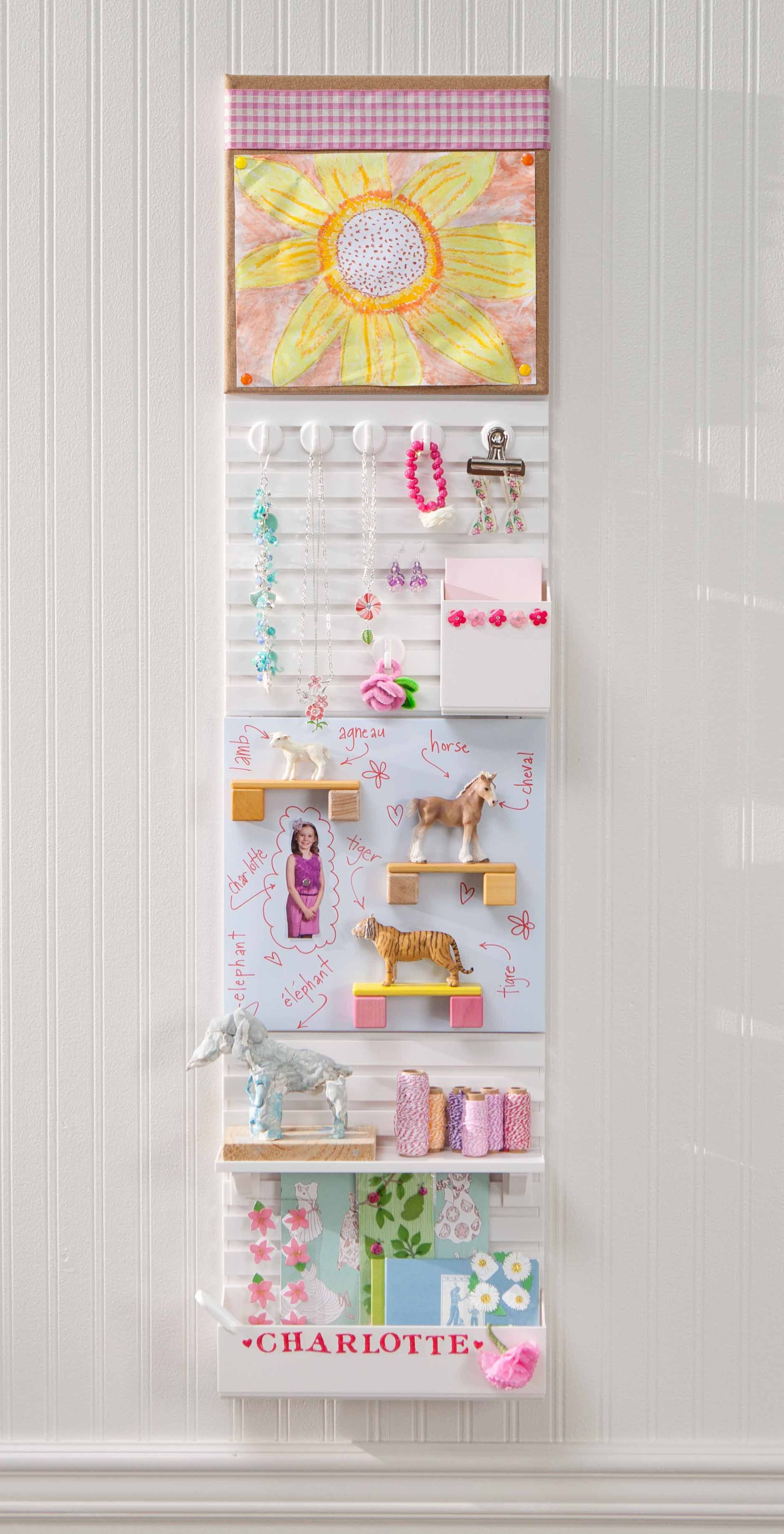 Organize your child\'s room with Wall Manager from Martha Stewart ...