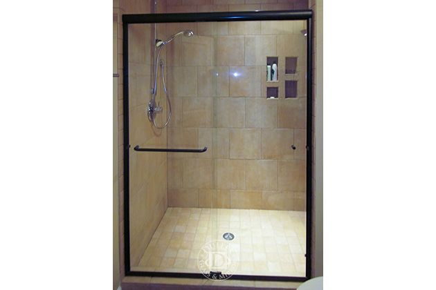 This Glass Shower Door Has: Towel Bar Semi-Frameless
