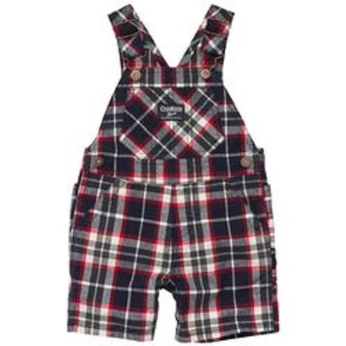 OshKosh B'Gosh Boys 9M 12M Navy & Red Plaid Cotton Shortalls $32 NWT #OshKoshBgosh #Everyday