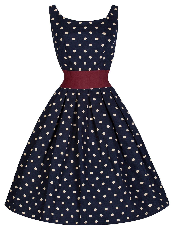 Lindy Bop  Lana  Millésime Cinquantaines Style Pois Robe De Swing  Amazon.fr   Vêtements et accessoires d2c5b5219d02