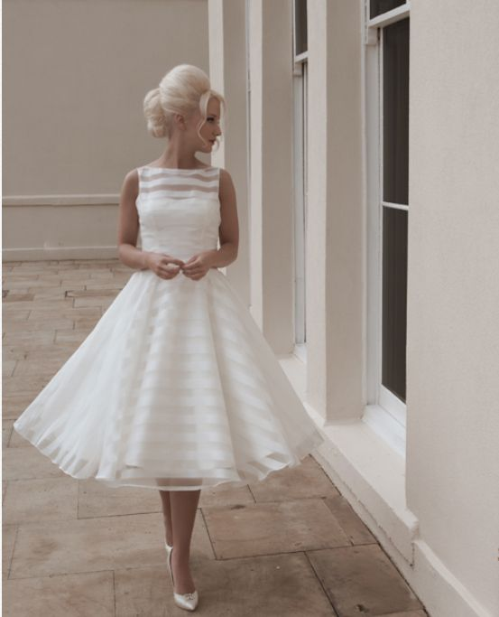 Vintage Tea Length Wedding Dress This Dresses Is Considered The Best In