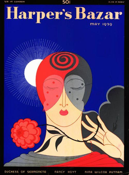 Harpers Bazaar Magazine Cover 1926 August Erte Deidre Wallace Valentinovamp Page 6