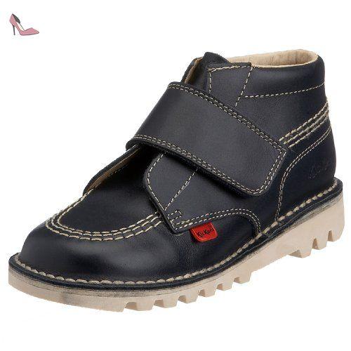 Kickers Kick Lo Infant Bleu Foncé En Cuir Mode Chaussures ZHl5i