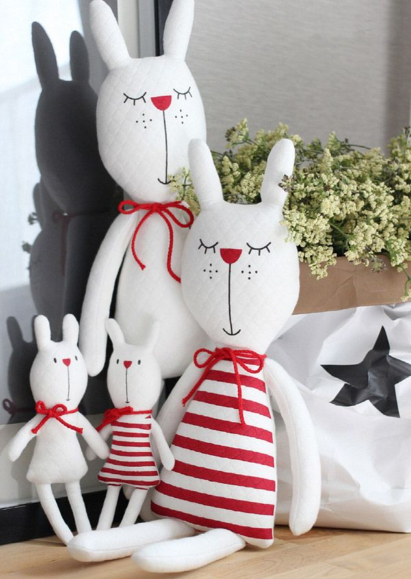 Rabbit Family Tilda. Семья кроликов | cloth dolls and rag dolls ...