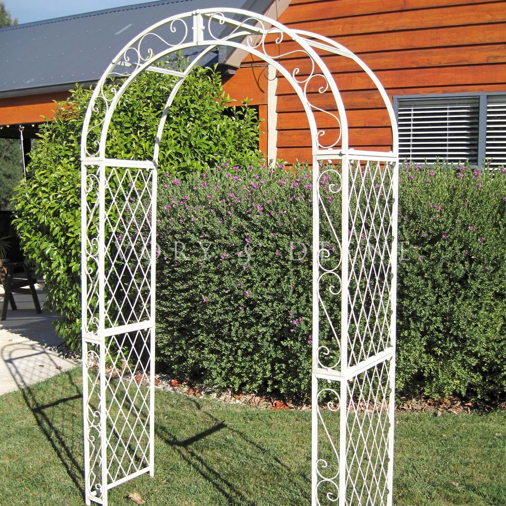 Sale Large French Provincial Cream Garden Arch Shabby 400 x 300