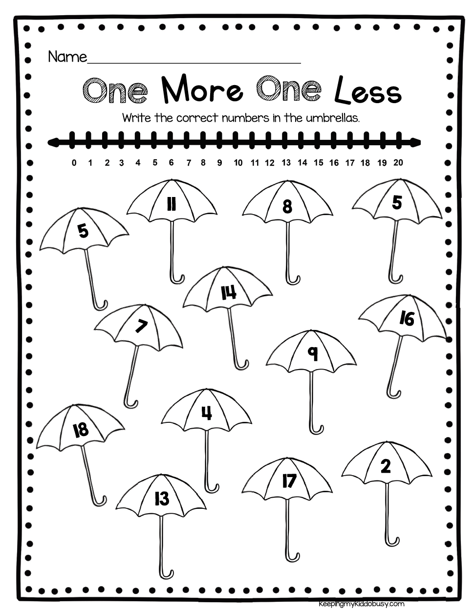 33++ Math worksheets one more one less Images