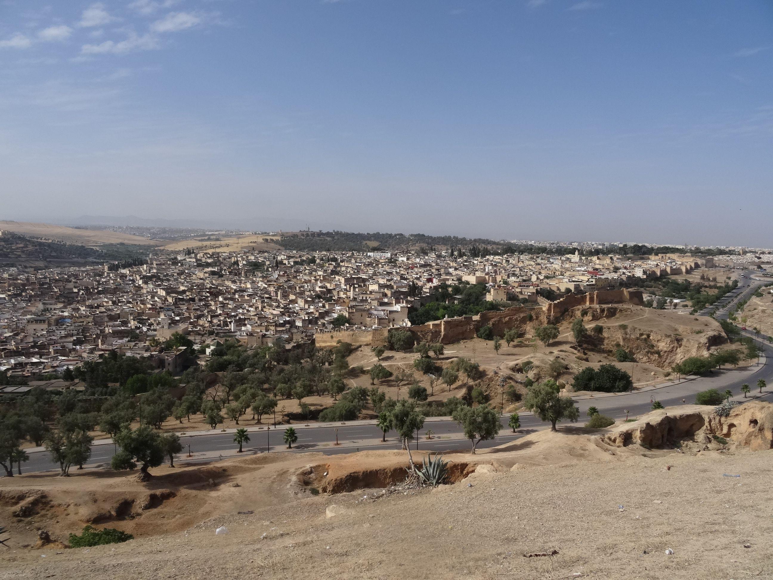 La vista de la medina desde el mirador de la estación de autobuses